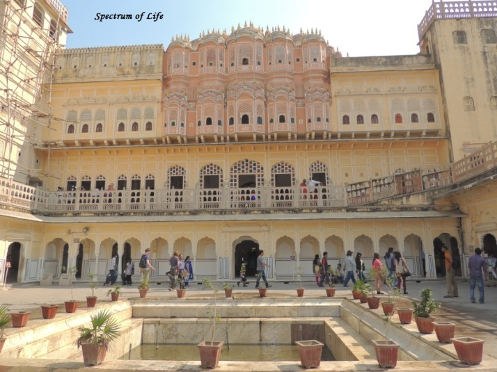 The Hawa Mahal from inside