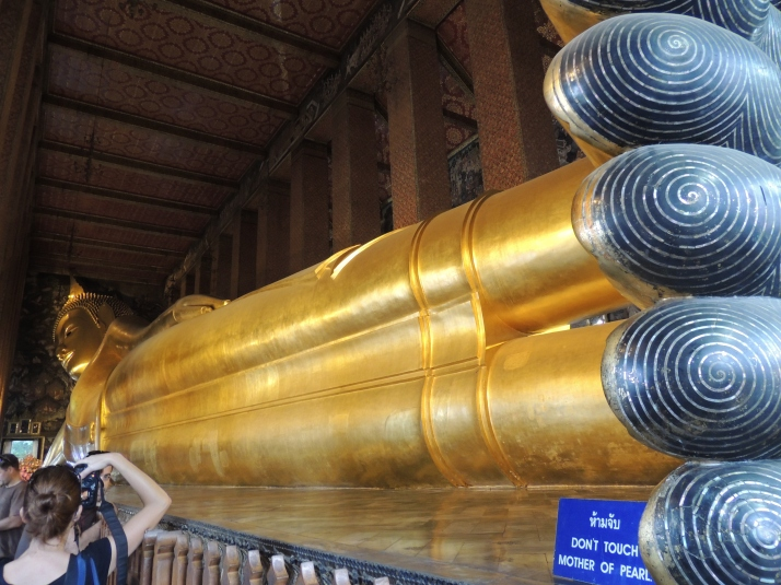 The Reclining Buddha.....at Wat Pho (the temple complex)