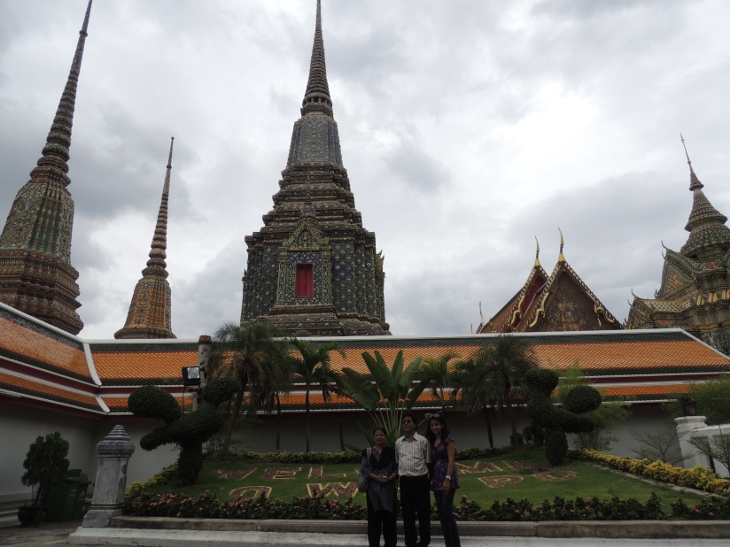 me with my parents at the Wat Pho