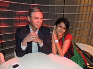 With charming George Clooney