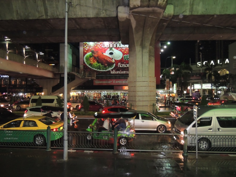 Traffic on the streets of Bangkok