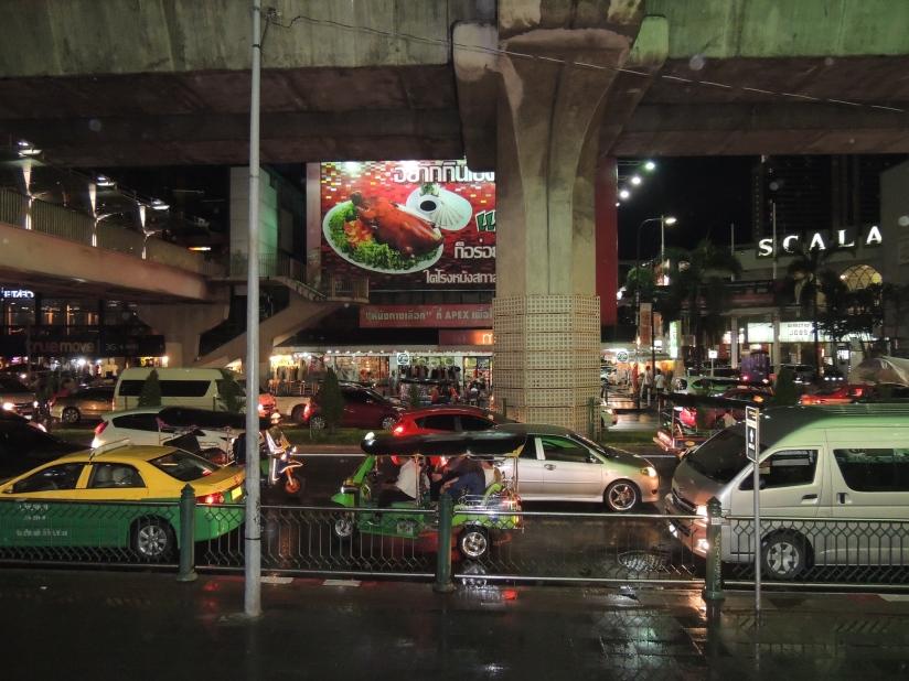 Traffic on the streets of Bangkok