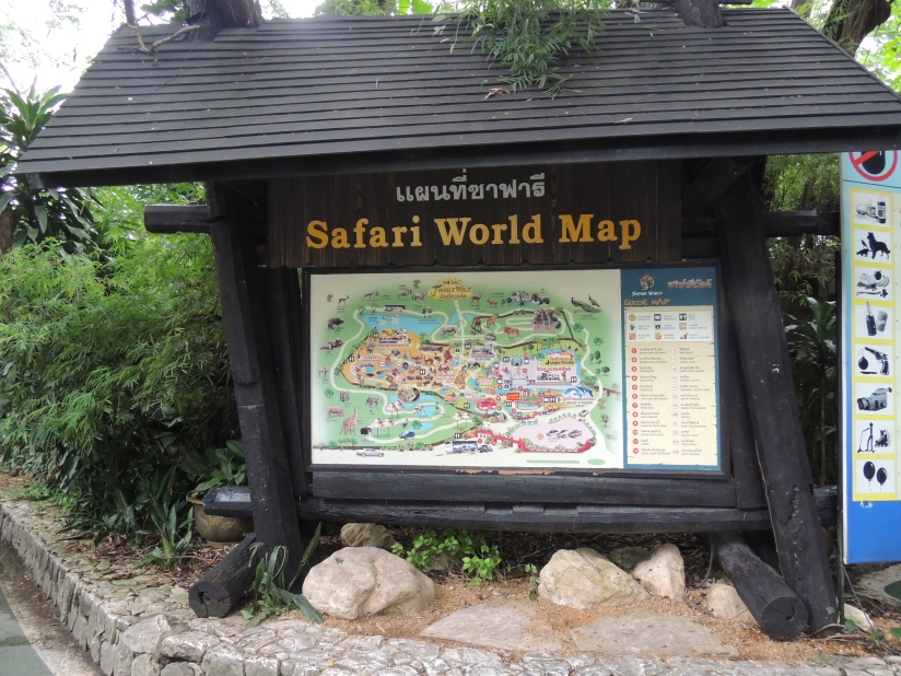 The colourful map to guide tourists