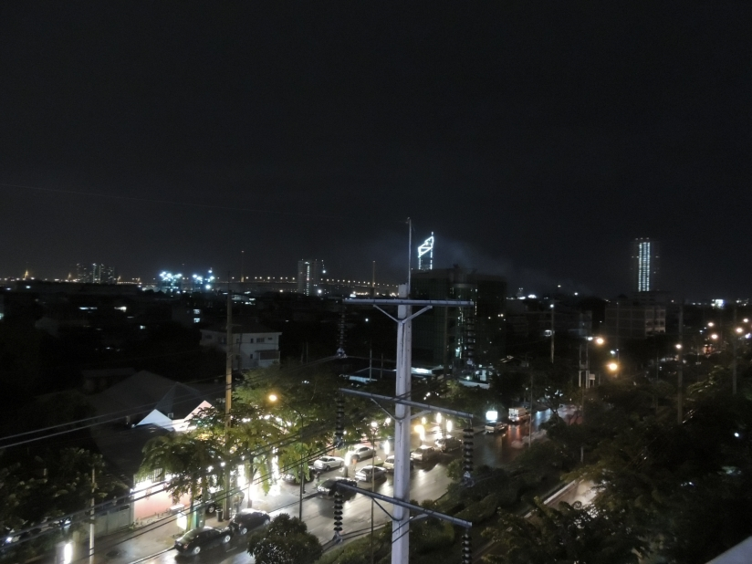 The city skyline from my room