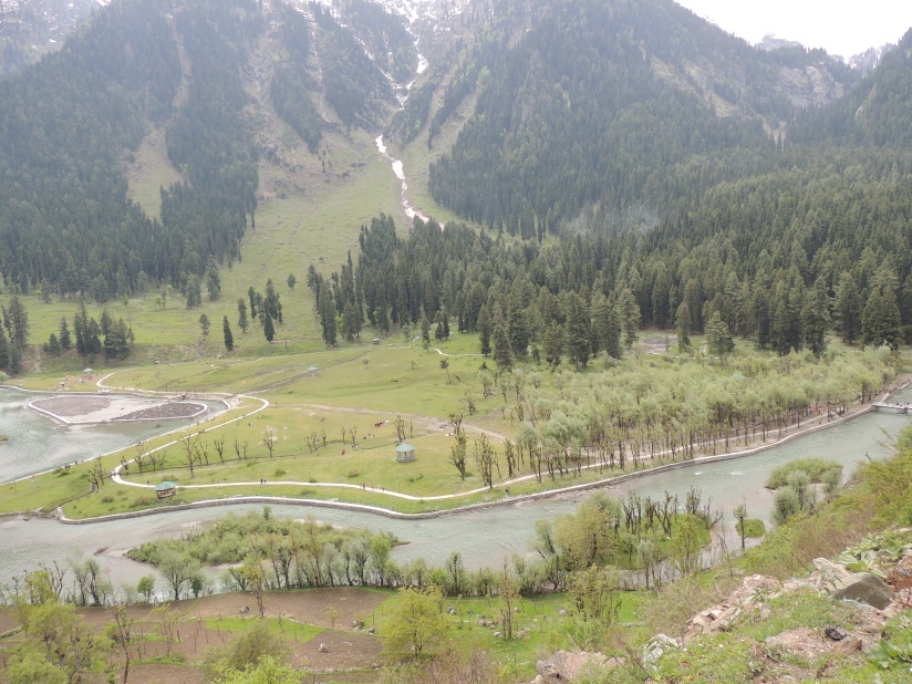 View of Betaab valley from above